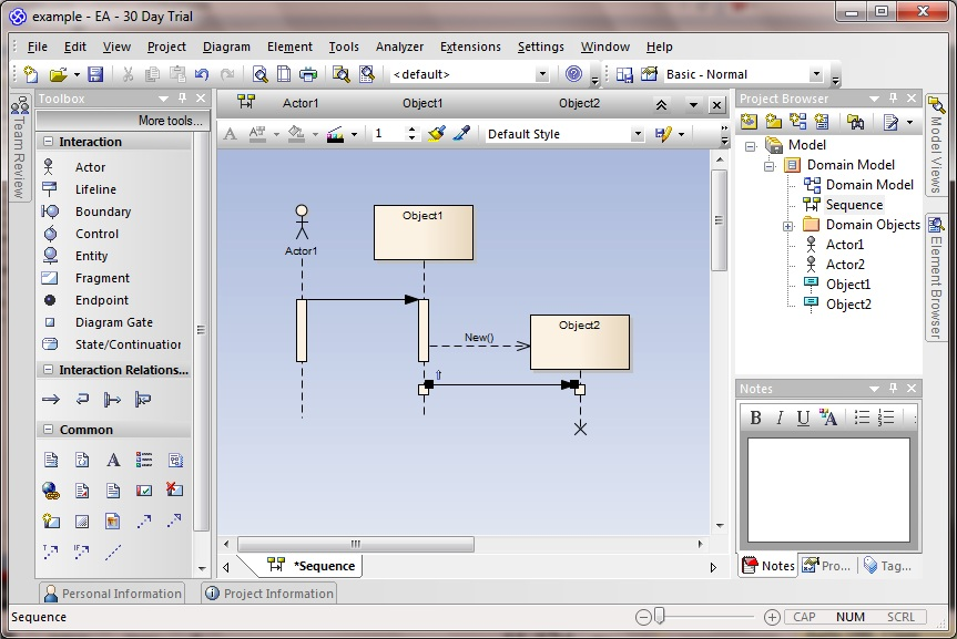 creating sequence diagrams in enterprise architect   technical    an error occurred