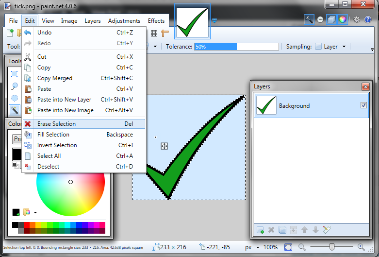 How To Use Magic Wand Tool Paint Net