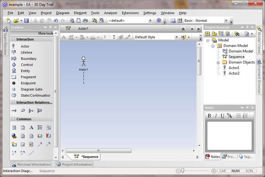 Creating sequence diagrams in Enterprise Architect ...