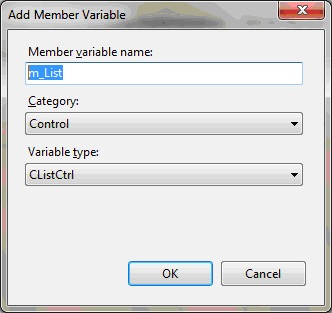How to create a simple list view in C++ / MFC | technical