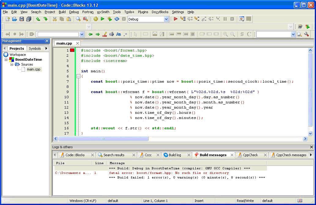 compilateur code blocks