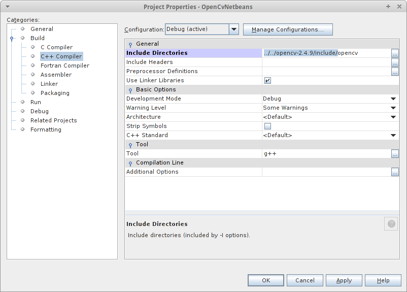 Configuring NetBeans to use OpenCV in Linux Environments | technical
