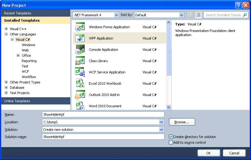 Show & hide controls in WPF / XAML   technical-recipes com