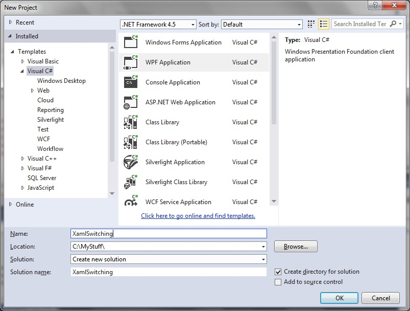 Switching between xaml views in mvvm | technical-recipes com