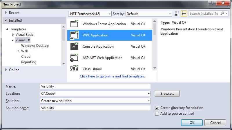 Bind XAML visibility ViewModel WPF | technical-recipes com