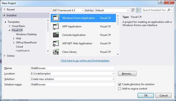 NET WebBrowser Control in WinForms | technical-recipes com