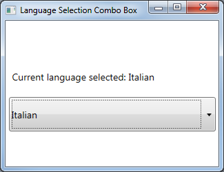 Wpf Combobox Text