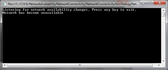 Listen network availability C# | technical-recipes com