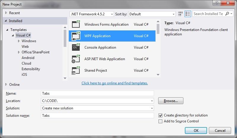 Adding tab items dynamically in WPF | technical-recipes com
