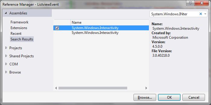 click event Listview WPF / MVVM | technical-recipes com