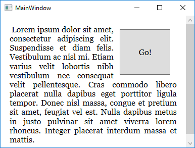 Wrap text around control in WPF | technical-recipes com