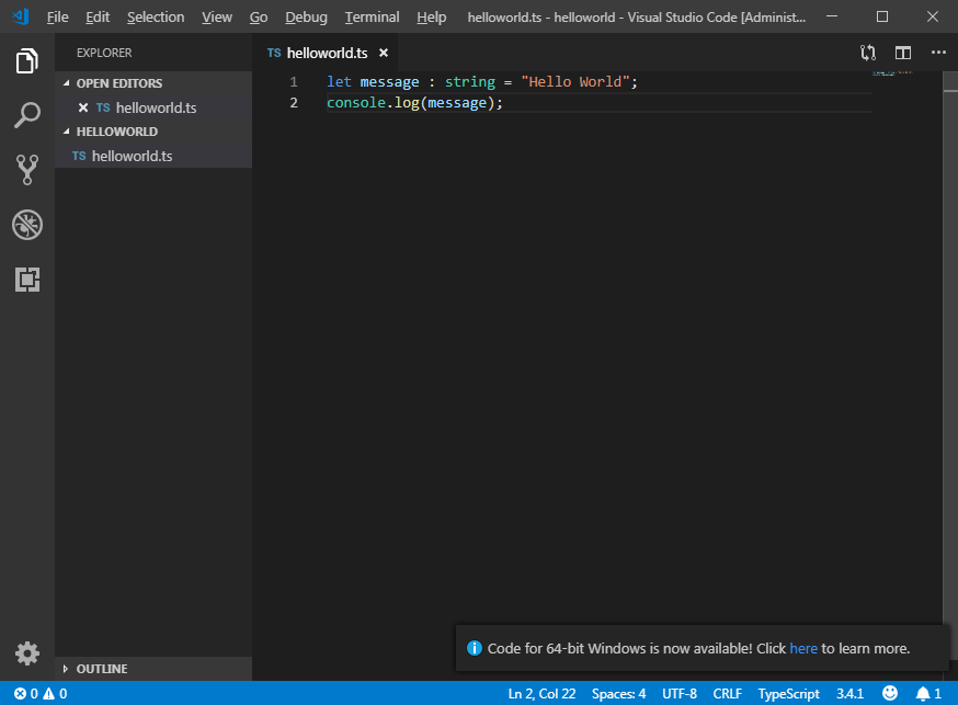 TypeScript Visual Studio Code   technical-recipes com